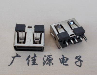 USB-AF母座 短体直插