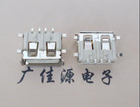 USB短体鱼叉脚全贴带柱