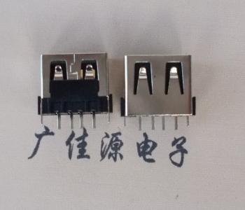直插苹果款USB短体10mm母座