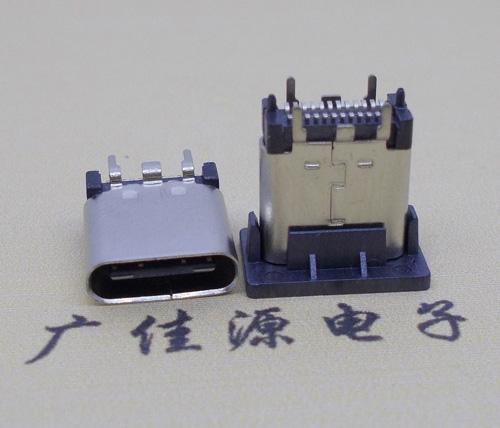 立式typec母贴座