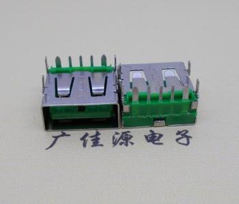 USB 5A大电流母座 OPPO绿色胶芯