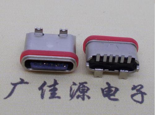 防水Type-c6p母头 立贴180度SMT.6.5