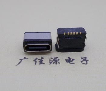 USB 3.1TYPE-C6P防水母座四脚插板