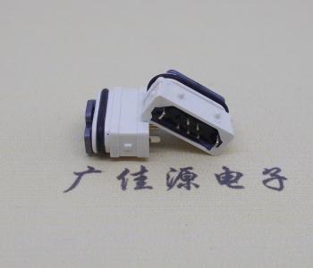 Micro USB防水母座 白色全塑接口
