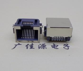 RJ45网络接口反向沉板母座H=8.6SMT全包17.24