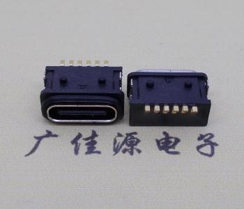 USB 3.1Type c6pin两脚插防水全塑接口座子