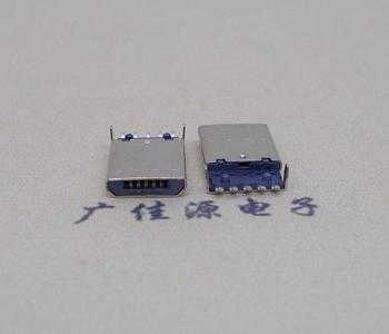 MICRO USB5P公头SMT下沉1.15总长度11.30带柱