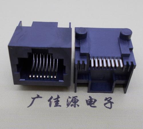 RJ45网络插座- 8pin8c全塑黑色贴片式5224接口
