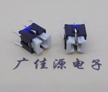 方头插件 6x6x7.2带兰色灯六脚开关