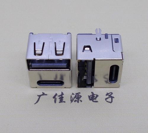 type-c14p母座与usb2.0母单面插二合一接口