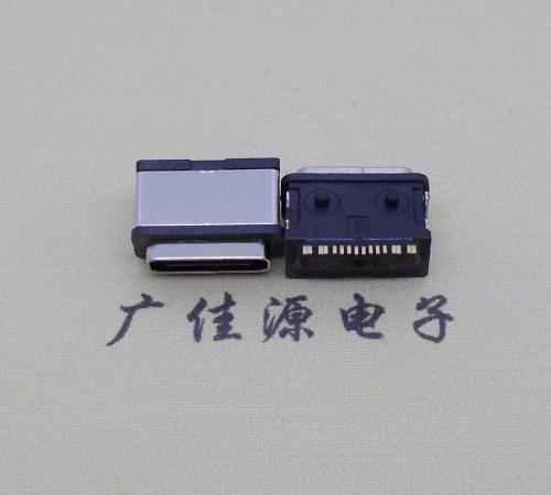 usb type-c16拼两脚卧式电源插头