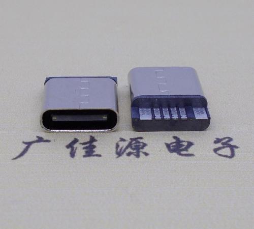 Type-C 6pin母座焊线式充电接口