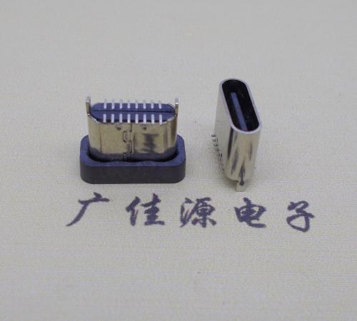 短体直立贴type c母座